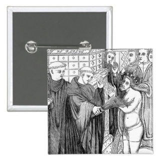 Penance of Henry II 2 Inch Square Button