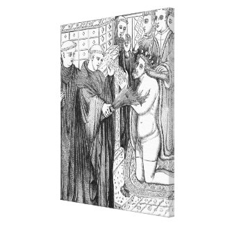 Penance of Henry II Canvas Print