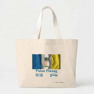 Penang waving flag with name canvas bags