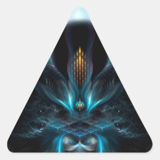 Penapia Fractal Art Triangle Sticker