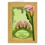 Penblwydd Hapus Mam - feliz cumpleaños Mam en Tarjeta