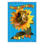 Penblwydd Hapus Nith - sobrina del feliz Felicitación