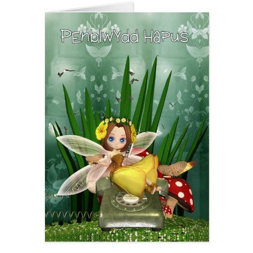 Penblwydd Hapus - tarjeta de cumpleaños de la leng