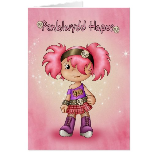 Penblwydd Hapus - tarjeta de cumpleaños Galés - ro