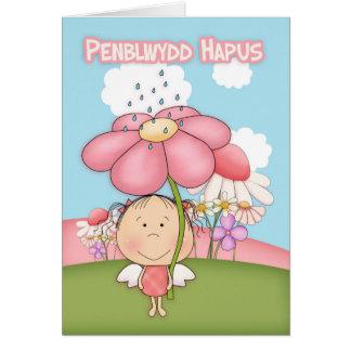 Penblwydd Hapus Welsh Language, Fairy Card