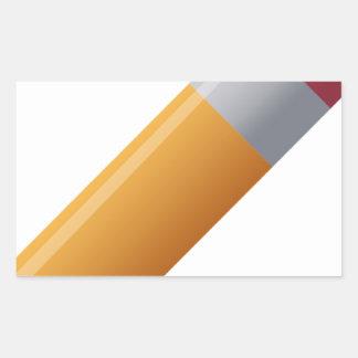 pencil-190 rectangular sticker