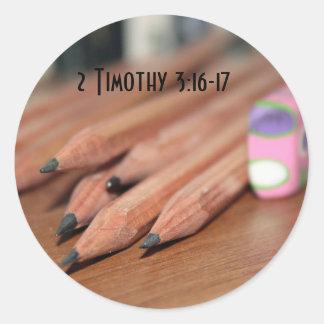 Pencil 2 Timothy 3:16-17 Sticker