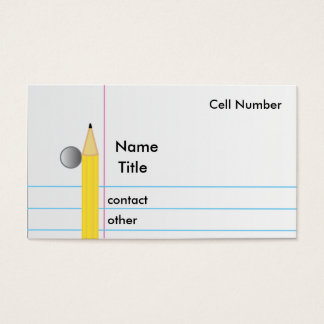 Pencil and Paper Business Card
