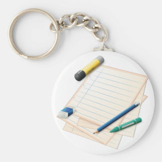 Pencil and Paper Keychain