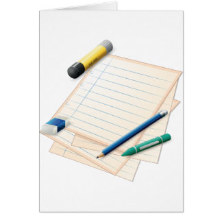 Pencil and Paper Note Cards