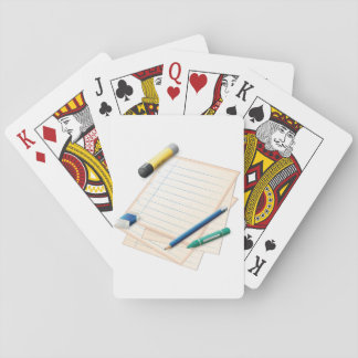 Pencil and Paper Playing Cards