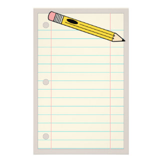 Pencil and Paper Stationery
