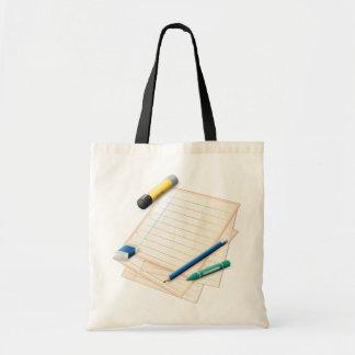 Pencil and Paper Tote Bag