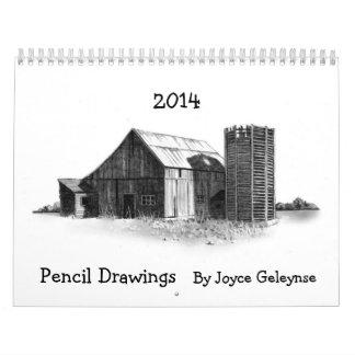 PENCIL ART, Realism DRAWINGS: 2014 Calendar