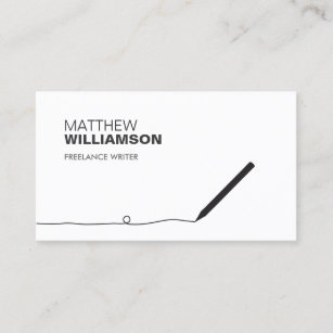 Writer business cards templates zazzle pencil business card for authors writers colourmoves
