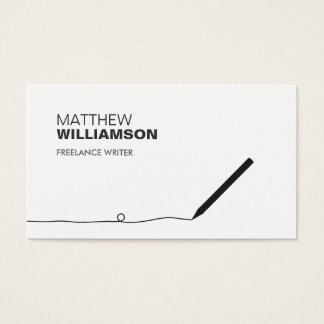 PENCIL BUSINESS CARD FOR AUTHORS & WRITERS