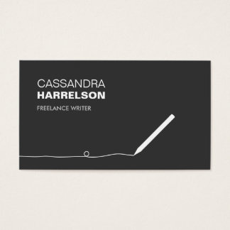 PENCIL BUSINESS CARD FOR AUTHORS & WRITERS II