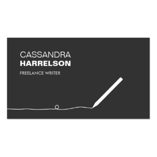 PENCIL BUSINESS CARD FOR AUTHORS WRITERS II
