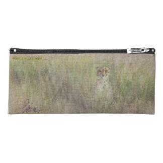 "Pencil Case on Safari! 4"" x 9"" zippered pencil bag"