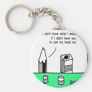 Pencil chat. keychain