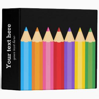 pencil colors * choose your background color binder