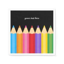 pencil colors * choose your background color paper napkin