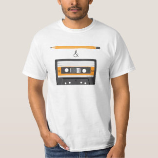 Pencil & Compact Cassette riddle T-Shirt