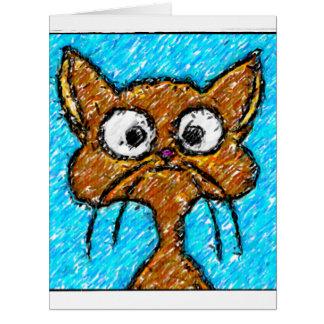 Pencil Crayon Kitty Greeting Cards