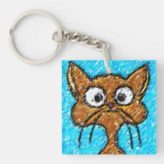 Pencil Crayon Kitty Keychain