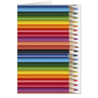 Pencil Crayons Card
