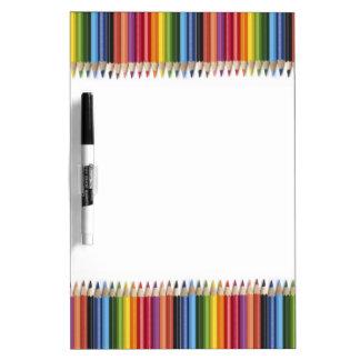 Pencil Crayons Dry-Erase Board