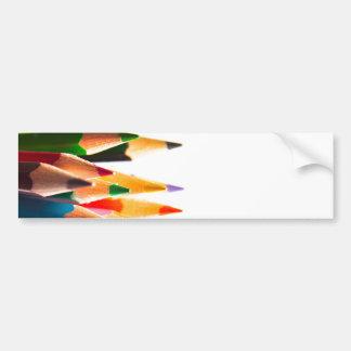PENCIL CRAYONS PENCILS COLORED BRIGHT SCHOOL BUMPER STICKER