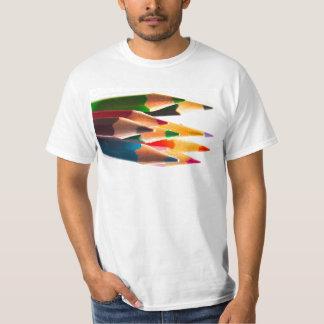 PENCIL CRAYONS PENCILS COLORED BRIGHT SCHOOL T-Shirt