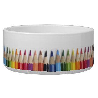 Pencil Crayons Dog Bowl