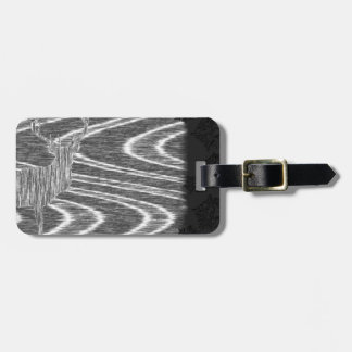 Pencil deer parched brooks film frame luggage tag