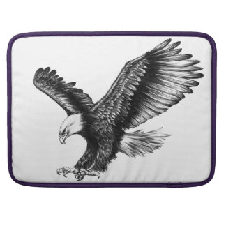 PENCIL DRAWING AWESOME BALD EAGLE MacBook PRO SLEEVE