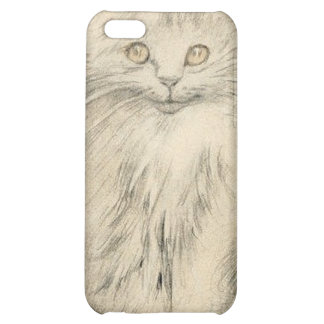 Pencil Drawing Cat Kitten Portrait 4s  Case For iPhone 5C