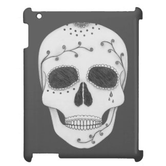 Pencil Drawing Day of the Dead Sugar Skull Case For The iPad