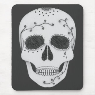 Pencil Drawing Day of the Dead Sugar Skull Mouse Pad