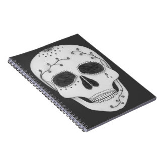 Pencil Drawing Day of the Dead Sugar Skull Spiral Notebook