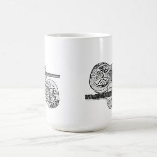 Pencil drawing dobro mug