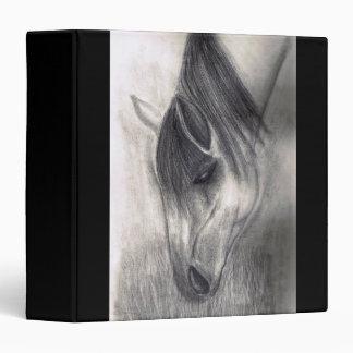 Pencil Drawing - Horse Grazing 3 Ring Binder