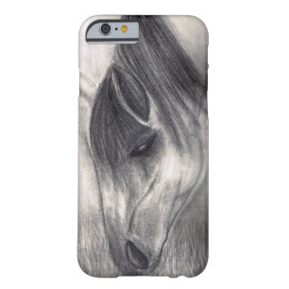 Pencil Drawing - Horse Grazing Barely There iPhone 6 Case