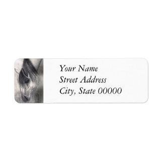 Pencil Drawing - Horse Grazing Return Address Label
