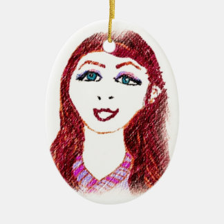 Pencil Drawing of Wish Ceramic Ornament