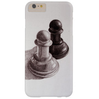 Pencil Drawn Pawns Chess Barely There iPhone 6 Plus Case