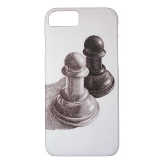 Pencil Drawn Pawns Chess iPhone 8/7 Case