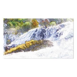 pencil drawn waterfall business card templates