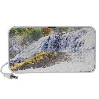 Pencil drawn waterfall iPod speaker