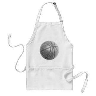 Pencil Effect Basketball Adult Apron